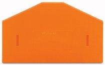 Trennwand orange überstehend