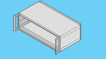Tischgehäuse 4HE,63TE,T255 mm,