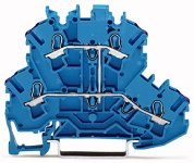 4-Leiter-Durchgangsklemme blau