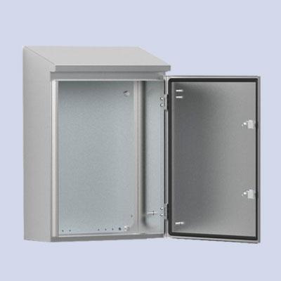 AFS Stainless steel single door, with integrated rain hood enclosure