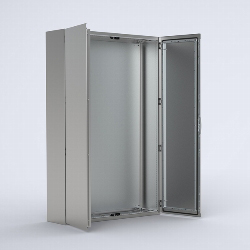 EKDS Stainless steel compact version, double door enclosure