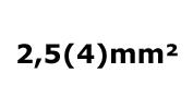 2.5(4)mm²