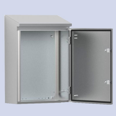 Wall-mounting case double rain hood