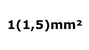 1(1.5)mm²
