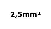 2.5mm²
