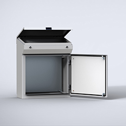 One-piece consoles in mild steel