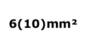 6(10)mm²
