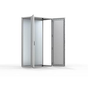 Mild steel combinable version, double door enclosure